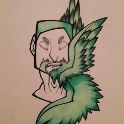 Татуировка крылья эскиз