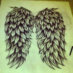 Тату крылья эскиз
