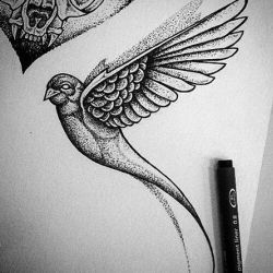 Татуировка ласточка эскиз