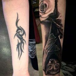 Татуировка летучая мышь фото