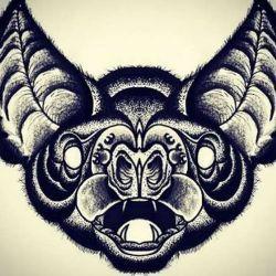 эскиз татуировка летучая мышь