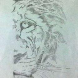 татуировка лев фото, эскиз