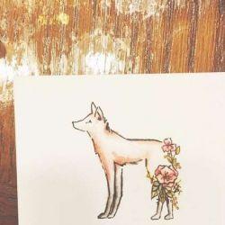Татуировка лиса фото, эскиз