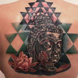 фотография татуировка лотос