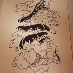 Татуировка лотос эскиз
