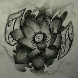 Татуировка лотос фото, эскиз