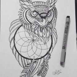 татуировка ловец снов фото, эскиз