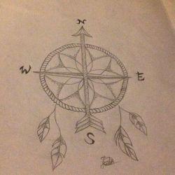 эскиз татуировка ловец снов