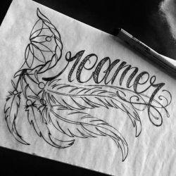 фото, эскиз татуировка ловец снов