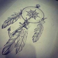 Татуировка ловец снов эскиз