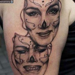 татуировка маски фото