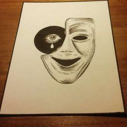 Тату маски фото, эскиз