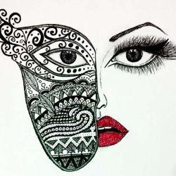 эскиз татуировка маски