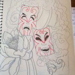 эскиз маски