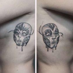 татуировка маски фотография