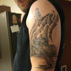 фото татуировка маяк