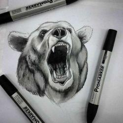 татуировка медведь фото, эскиз