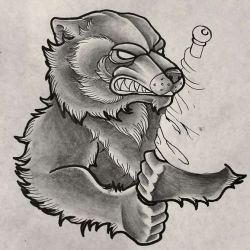 медведь эскиз