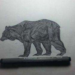эскиз татуировка медведь