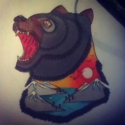 фото, эскиз татуировка медведь