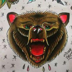 эскиз медведь