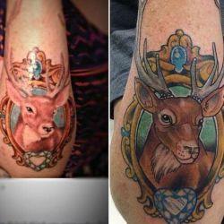 фото татуировка олень