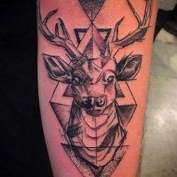 татуировка олень фотография