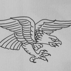 Тату орел эскиз