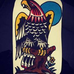 фото, эскиз тату орел