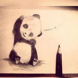 татуировка панда эскиз