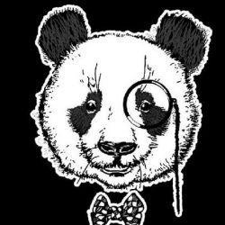 панда эскиз