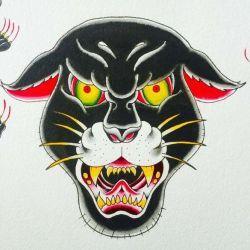 Татуировка пантера фото, эскиз