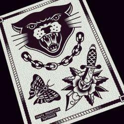 татуировка пантера эскиз
