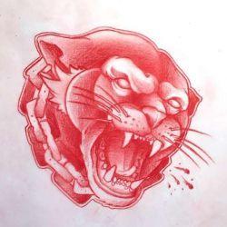 фото, эскиз татуировка пантера
