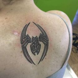 Татуировка паук фотография