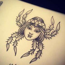 Татуировка паук эскиз