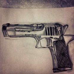 пистолет эскиз