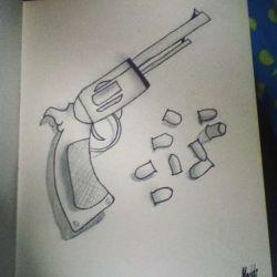 пистолет фото, эскиз