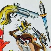 эскиз татуировка пистолет