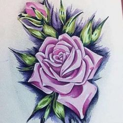татуировка роза эскиз