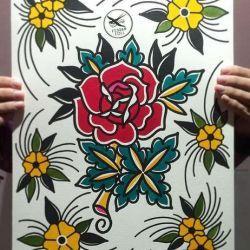 роза фото, эскиз