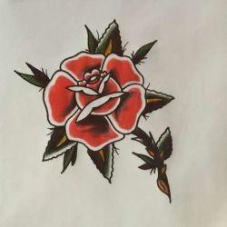 тату роза эскиз