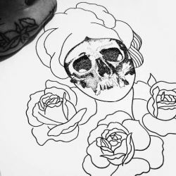эскиз роза