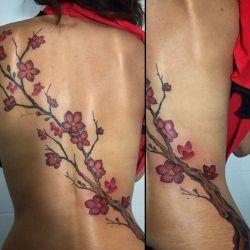 татуировка сакура фотография