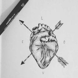Тату сердце фото, эскиз