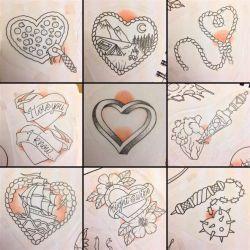 фото, эскиз татуировка сердце