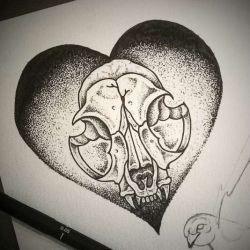 эскиз тату сердце