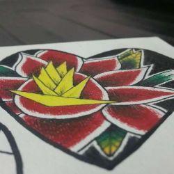 Татуировка сердце эскиз
