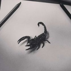 Татуировка скорпион эскиз