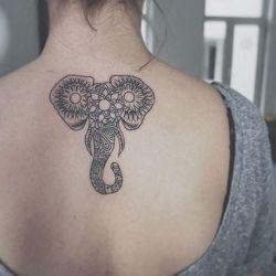 Татуировка слон фото